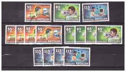 Antillen / Antilles 1988 X5 Childwelfare Television Radio Computer Used - Curacao, Netherlands Antilles, Aruba