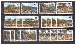 Antillen / Antilles 1989 X5 Childwelfare Beach Cactus Used - Curacao, Netherlands Antilles, Aruba