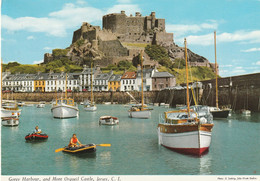 Gorey Harbour, And Mont Orgueil Castle, Jersey, C.I. - Jersey