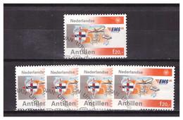 Antillen / Antilles 1991 X5 EMS Expresse Mail Service Airplane Car Flag Used - Curacao, Netherlands Antilles, Aruba