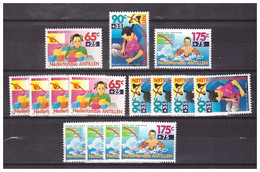 Antillen / Antilles 1993 X5 Childwelfare Danger In House Traffic Water Used - Curacao, Netherlands Antilles, Aruba