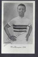 Stan Ockers - GESIGNEERD / AUTOGRAPHE - Wereldkampioen 1955 - Postkaart - Cycling