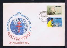 Sp7818 ZIMBABWE Santé Discovery Of The Tubercle Bacillus 1882-1982 Health Maladies Tuberculose - Maladies