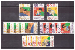 Antillen / Antilles 1994 X5 International Year Of The Family + S/S Used - Curacao, Netherlands Antilles, Aruba