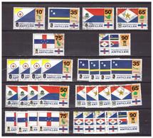 Antillen / Antilles 1995 X5 Flags Of Antilles Used - Curacao, Netherlands Antilles, Aruba