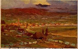 ASIAGO PANORAMA-ILL.FIRMATA E.MARCHIORO-POSTA MILITARE 54-Vg IL 2/11/918 X 22°COMPAGNIA TELEGRAFISTI- - Vicenza