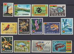 1965Ghana224-236Overprint -  Fauna And Flora34,00 € - Marine Web-footed Birds