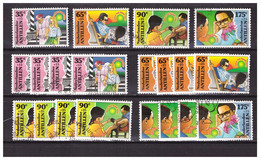 Antillen / Antilles 1995 X5 Childwelfare Helpfulnes Of Childeren Used - Curacao, Netherlands Antilles, Aruba
