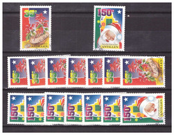Antillen / Antilles 1996 X8 Christmas Santaclaus Noel Weihnachten Used - Curacao, Netherlands Antilles, Aruba