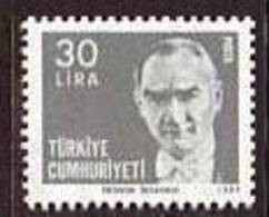 1981 TURKEY ATATURK REGULAR ISSUE STAMP MNH ** - Ongebruikt