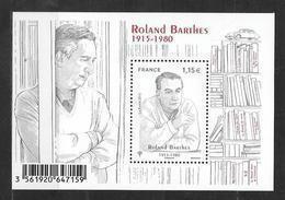 France 2015 Bloc Feuillet N° F5006 Neuf Roland Barthes à La Faciale + 10% - Neufs