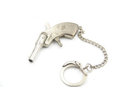 Vintage TOY GUN :  MONDIAL MIGNONNETTE ITALY - L=5.0cm - Keychain 1960s-70s - Keywords : Cap - Cork - Revolver - Pistol - Decorative Weapons