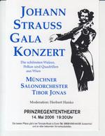 Wien Vienna - Johann Strauss Gala Konzert - Munchner Salonorchester Tibor Jonas - 2007 - Music Concert, Salonmusik - Other