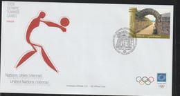 United Nations Vienna FDC 2004 Athens Olympic Games (LA38) - Verano 2004: Atenas