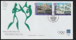 United Nations New York FDC 2004 Athens Olympic Games (LA38) - Verano 2004: Atenas