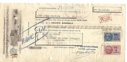 Traite Illustrée 1944 / 95 NOGENT SUR MARNE / Usine CA VA SEUL / Produits D'entretien, Cire, Cirage / Fiscaux 219 & 209 - Fiscale Zegels