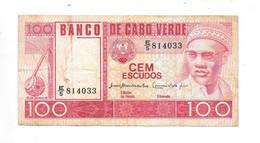 *cape Verde 100 Escudos 1977  Km 54  Vf+ - Cape Verde