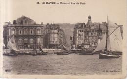 Le Havre Musee Et Rue De Paris Carte Postale Animee - Port