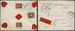Affranc. Tricolore çàd N°289, 321 Et 341 Sur L. Assurée (6900 Frs, 32 Gr, 2 Ports) De Antwerpen (1933) > Chemnitz (AL) - 1929-1941 Big Montenez