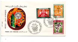 ALGERIE FDC 1968 JEUX OLYMPIQUES DE MEXICO - Algeria (1962-...)