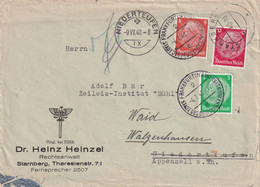 ALLEMAGNE  1940 LETTRE CENSUREE DE STARNBERG - Covers & Documents