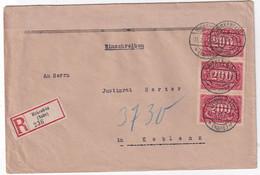 ALLEMAGNE 1923 LETTRE RECOMMANDEE DE BIRKENFELD - Covers & Documents