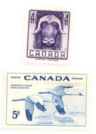 1955 - Canada 279/80 Fauna Selvatica - Cranes And Other Gruiformes