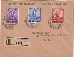 SUISSE-LR -OB De L'Assemblée De La Société Des Nations-GENEVE 8/10/1936-TP N°286/8 - Marcophilie