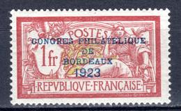 FRANKREICH, 1923 Philatelistenkongress, Ungebraucht * - Unused Stamps