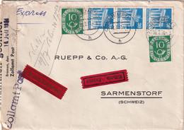 BUND 1951 LETTRE EXPRES DE BREMEN - Lettres & Documents