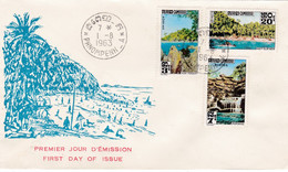 CAMBODGE : FDC Paysages Oblitération Phnompenh De 1963 - Cambodja
