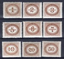 ÖSTERREICH, 1894 Portomarken, Ungebraucht * - Postage Due