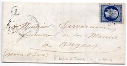 Sarthe - LAC Affr N° 14A Obl PC 3039 - Tàd Type 22 St Denis-d'Orques + BR A (localisée Chemiré) - 1849-1876: Periodo Classico