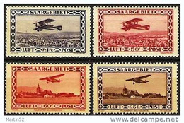 SAARGEBIET Sarre 1928/32: Bréguet & Focke-Wulf Michel-No. 126-127+158-159 * Falz Charnière MLH (Michel 73.00 Euro Für *) - Poste Aérienne
