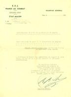 """Nice (Alpes-Maritimes) 1945 """" Autorisation Du Port De La MEDAILLE Du MAQUIS - F.F.I. France Au Combat Groupes Veny """" - Documents"""