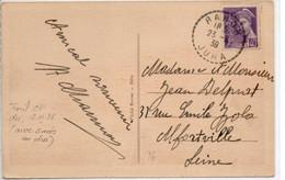 JURA    :   RAHON   Recette Distribution  1939 - Manual Postmarks