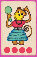 266052 /  Trading Card - Animals  Dressed In Clothes Cute Monkey With A Mirror  5.8 X 9.0 Cm . - Other