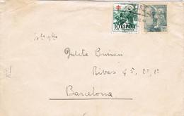41212. Carta OVIEDO (asturias) 1952. Sello Recargo Pro Tuberculosos - 1951-60 Cartas