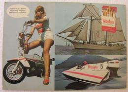 """Winston Cigarettes + Johnson Moteurs Bateaux + Motobécane Motoconfort X1 """"Publicitaire"""" - Werbepostkarten"""