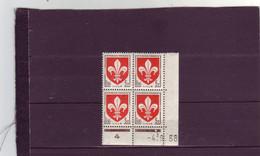 N° 1186 - 5F Blason De LILLE - B De A+B - 1° Tirage Du  22.8.58 Au 5.9.58 - 04.09.1958 - - 1950-1959