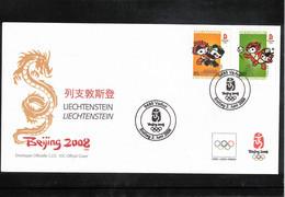 Liechtenstein 2008 Olympic Games Beijing FDC - Zomer 2008: Peking