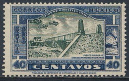 Mexico 1936 Mi 733 Aero Sc C79 SG 594 Air * MH - Guayalejo Bridge - Nuevo Laredo Highway, Mexico-City - USA - Ponti