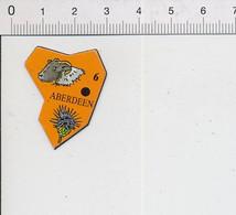 Magnet Le Gaulois Carte Europe 6 Aberdeen Ecosse élevage Du Mouton Fleur Chardon 9mag - Magnets