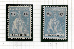 MOZAMBIQUE STAMP - 1926 CERES NEW COLOURS AND VALUES Md#252 2 DIF. TONES MNH-MH (LMZ#74) - Mozambique