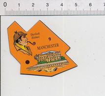 Magnet Le Gaulois Carte Europe 9 Manchester Angleterre Sherlock Holmes Portrait 9mag - Magnets