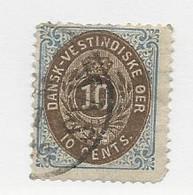 23815 ) Danish West Indies 1874 Dark Blue - Deens West-Indië