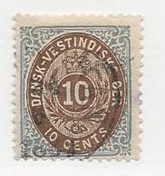 23821 ) Danish West Indies 1874 Dark Blue - Deens West-Indië