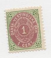 23825 ) Danish West Indies 1898 Inverted Frame - Deens West-Indië