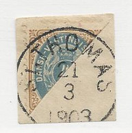 23826 ) Danish West Indies 1903 Bisect On Piece Nice Postmark Cancel - Deens West-Indië