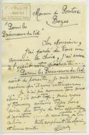 Lettre Autographe De Ferdinand Collin A Arnaud De Pontac Précurseurs Du Ciel 1948 - Autógrafos